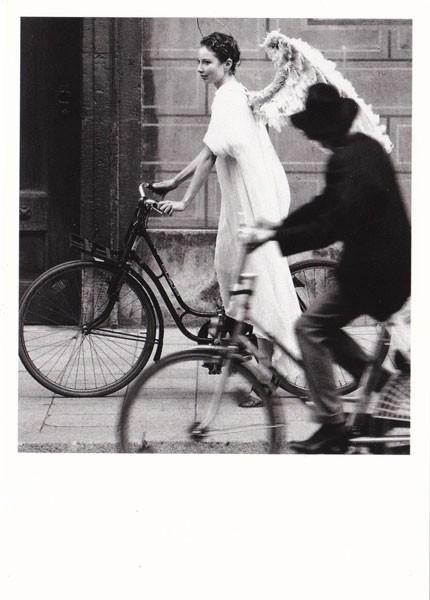 Engel im Straßenverkehr - Postkarte