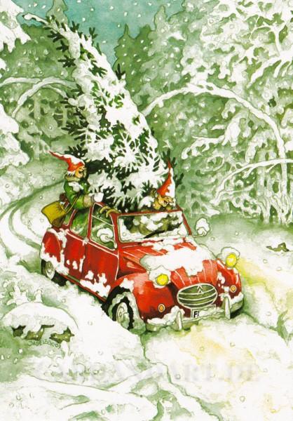 Inge Löök: Christbaum aus dem Wald - Postkarte Nr.25