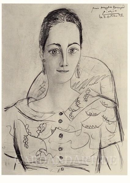 Pablo Picasso: Portrait Angela Rosengart - Postkarte