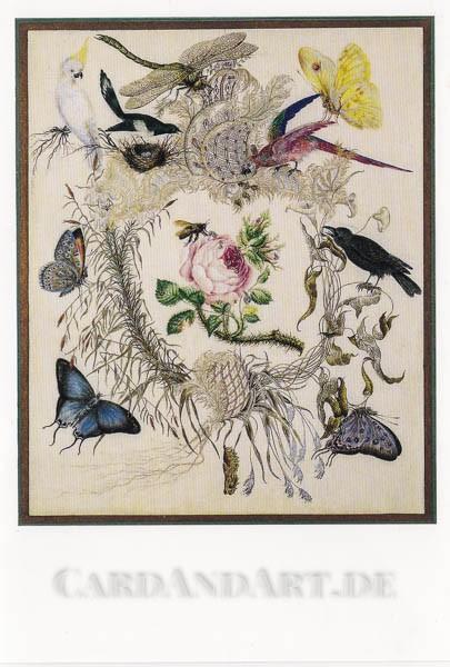 Töchter d.B.v. Arnim: Biene und Rose - Doppelkarte
