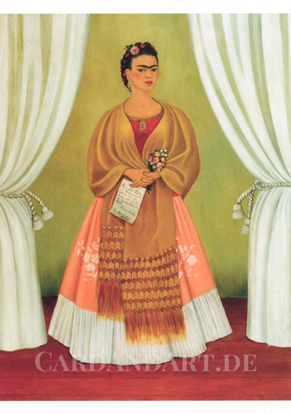 Kahlo Frida: Selbstporträt - Postkarte