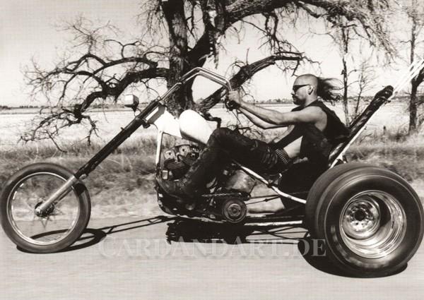 Biker - Postkarte