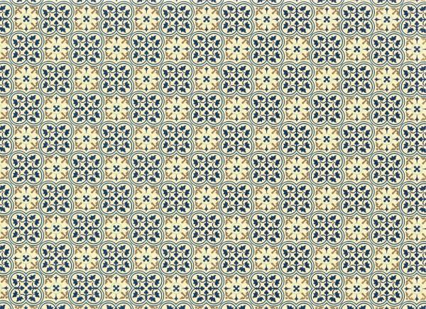Quadrilobo - Geschenkpapier mit Goldfarbendruck