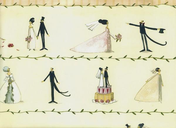 Zur Hochzeit - Geschenkpapier von Silke Leffler