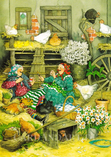 Inge Löök: Ostern im Hühnerstall - Postkarte Nr. 41