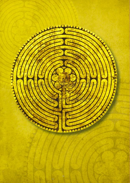 Labyrinth Kathedrale von Chartres - Postkarte