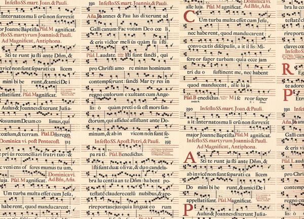 Dominica Gregorianik- Geschenkpapier aus Italien
