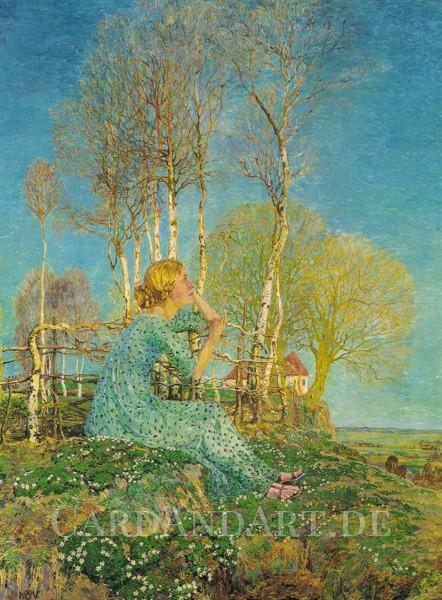 Vogeler, Heinrich: Sehnsucht - Postkarte