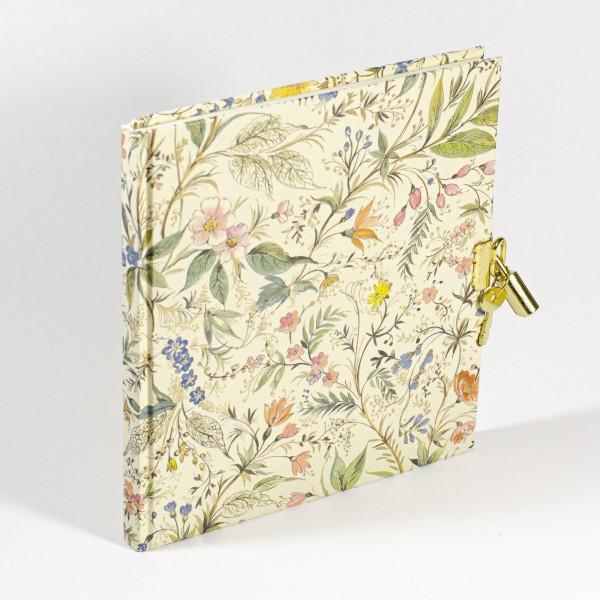 Tagebuch mit Schloss -Primavera - 148x165mm, 100 Seiten
