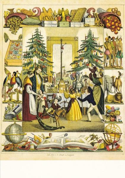 Christabend 1843 - Postkarte