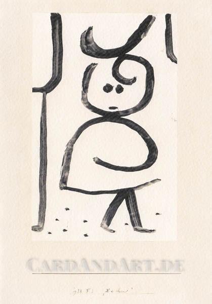 Paul Klee: X´chen - Doppelkarte
