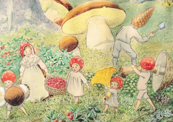 Beskow, Elsa: Wichtelkinder beim Pilzesammeln