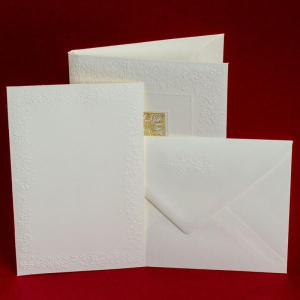 """Italienische Briefkartenmappe """" Madame """" mit goldfarbenem Druck A6"""