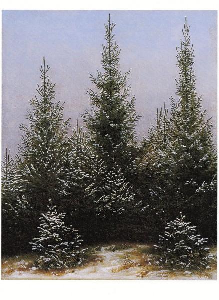 Friedrich, Caspar David - Fichtendickicht im Schnee - Postkarte