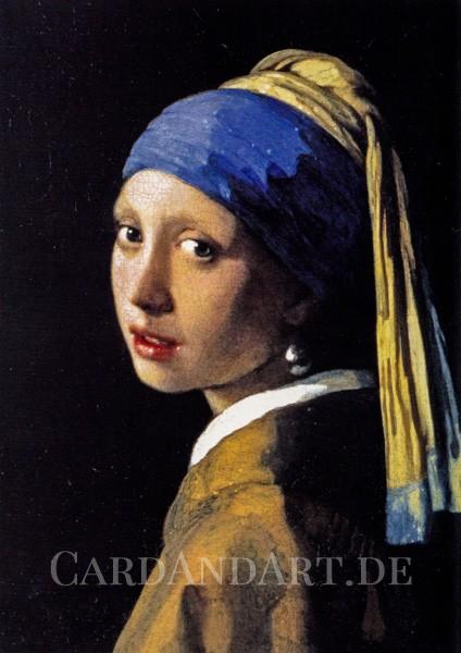 Vermeer: Das Mädchen mit dem Perlenohrring - Postkarte