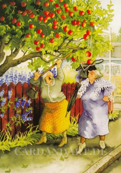 Inge Löök: Apfelernte - Postkarte Nr. 11