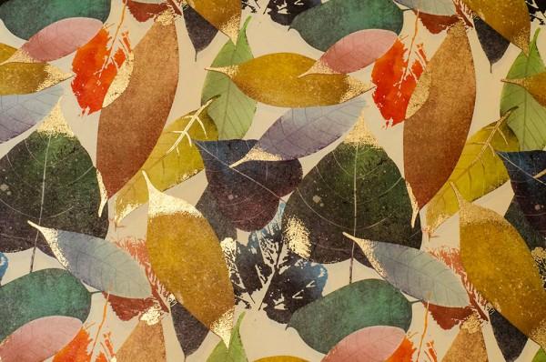 Feuillage Doré - Herbstlaub - Carta Varese Geschenkpapier