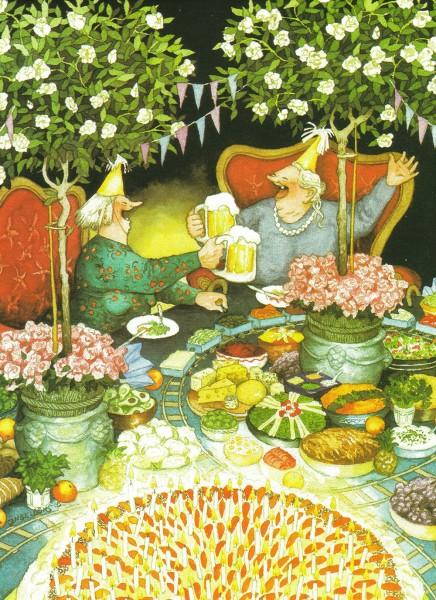 Inge Löök: Geburtstagstorte - Postkarte Nr. 29