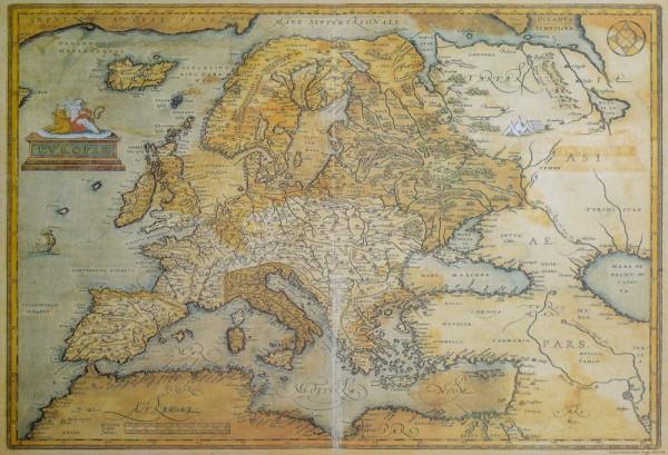 Europa Landkarte - Vintage Poster