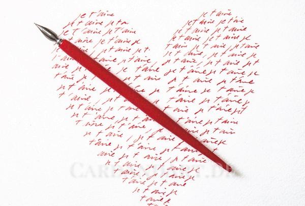 Rotes Herz - Postkarte