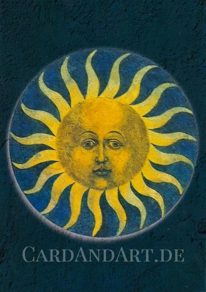 """Veit Stoß: Rosenkranzmedaillon """"Sonne"""" - Postkarte"""